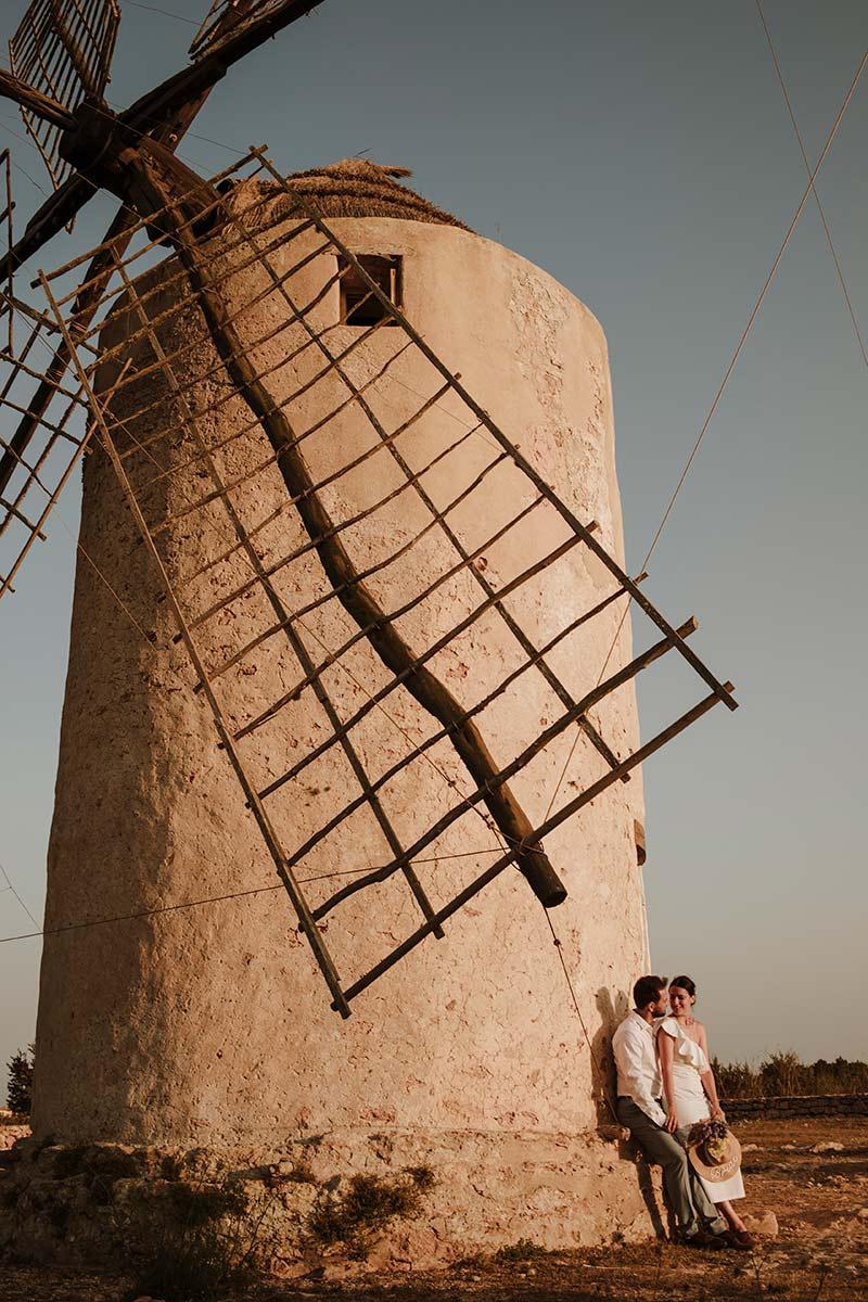 boda en unos molinos