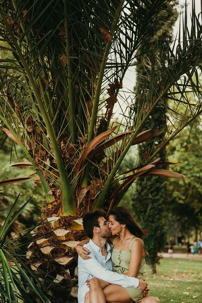 sesión preboda con palmeras