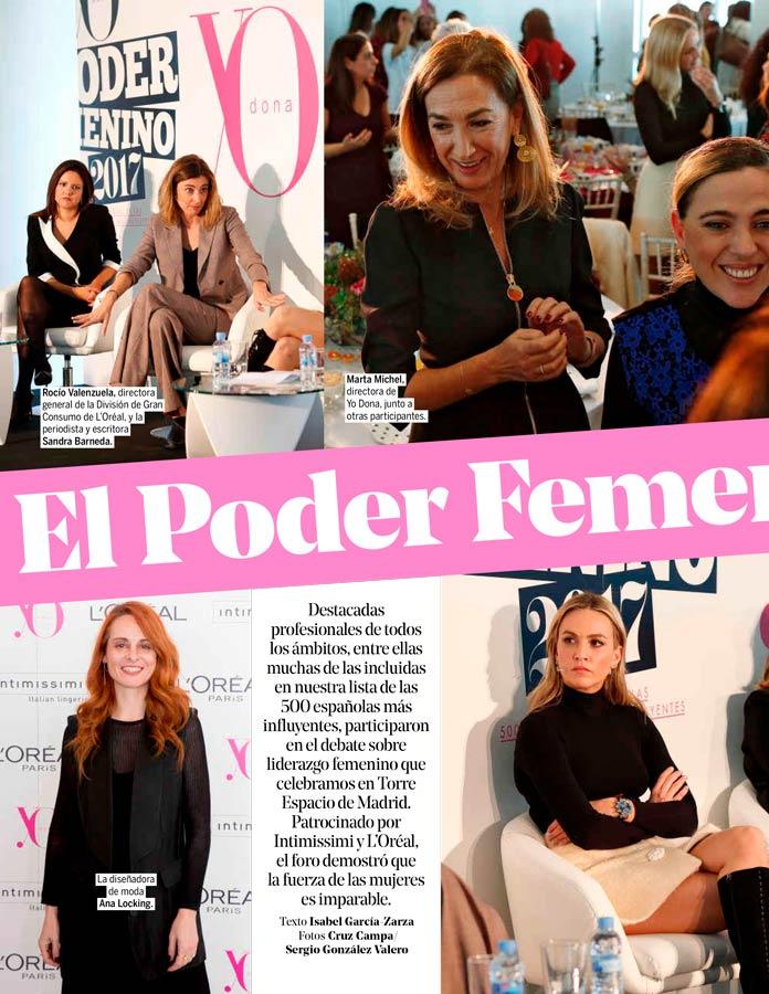 reportaje el poder femenino enn Yo dona